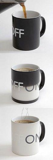 heat sensitive pigment :) - On Off Mug