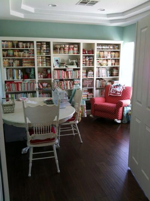Seating For Small Living Room Livingroomreadingchair Sewing Room Inspiration Dream Craft Room My Sewing Room Living room to sewing room