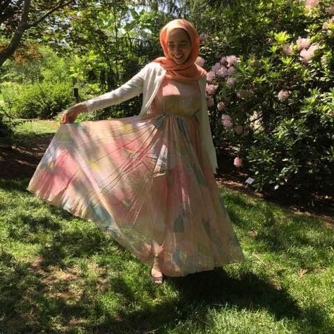 Modest Garden Party Dress