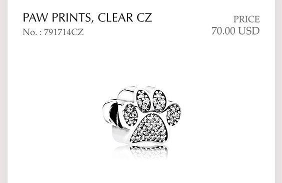Paw Print in Sterling Silver & CZ | Pandora