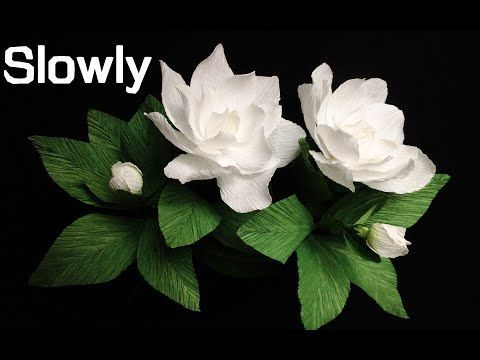 Abc Tv How To Make Gardenia Paper Flower From Crepe Paper Slowly Craft Tutorial Youtube Origami F In 2020 Paper Flowers Crepe Paper Crafts Tissue Paper Flowers