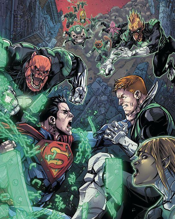 Superman vs green lantern - photo#19