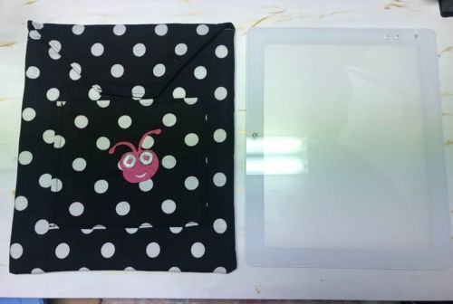Cricut Bright Pad Cover Case Embroidered Lined Brightpad Black White Dots Ebay With Images Pad Cover Case Cover Pad