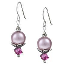 @Overstock - Everything is pretty in pink with this Swarovski crystal pearl dangle earrings. Crafted with argentium silver hooks, these earrings also are accented with silver beads.  http://www.overstock.com/Main-Street-Revolution/MS-DJ-Casanova-Argentium-Silver-Everything-Pink-Crystal-Earrings/5697314/product.html?CID=214117 $19.49