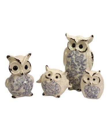 Look at this #zulilyfind! Owl Figurine Set #zulilyfinds