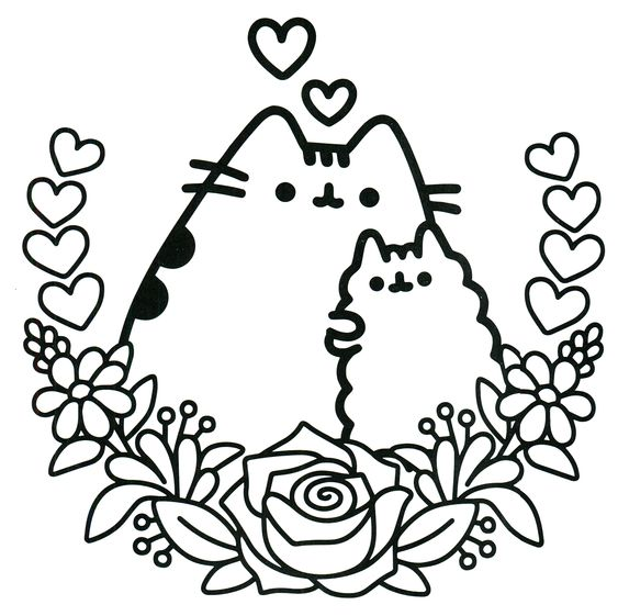 Cat Coloring Pages Pdf : Pusheen coloring book the cat