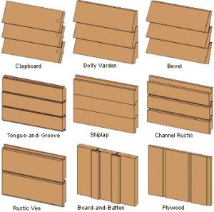 Siding types shiplap siding and cedar siding on pinterest for Types of siding