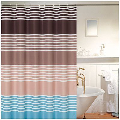 Living Colors™ Fabric Shower Curtains, Geometric Prints at Big ...