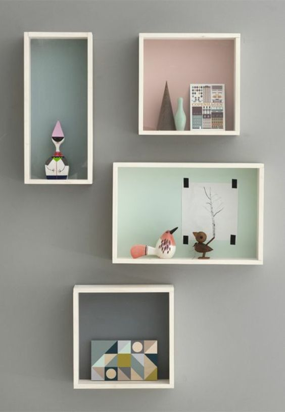 Design cubes and comment on pinterest for Decoration murale a coller