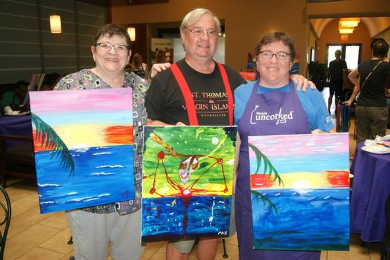 Great time at Indulge Restaurant with wine, paint, and music! Thank you to everyone that attended this fundraiser event for the San Diego Women's Chorus! Enjoy the photos and don't forget to tag yourself & your friends. See you all again soon at another Paints Uncorked event!