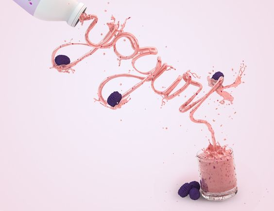Yogurt by Carlos Carvalhar, via Behance