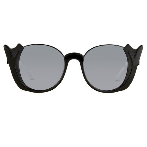 Shop - Prabal Gurung black sunglasses | Made by Linda Farrow, selected by Valery Demure |