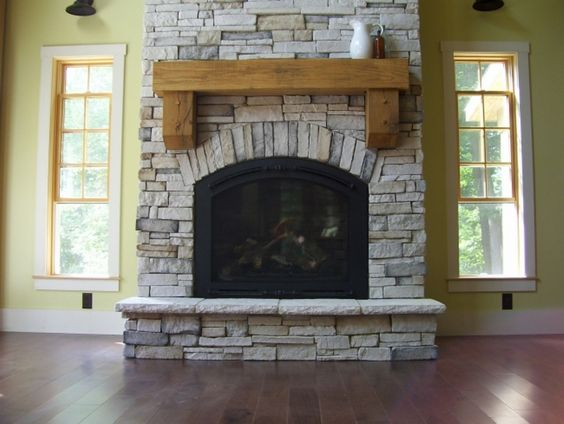 Indoor Propane Fireplace Vent Free Stacked Stone Finish High Ceiling Google Search