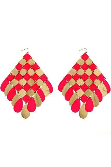 Rhombus-Shaped Earrings
