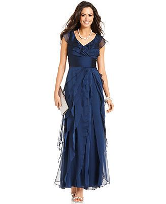 Adrianna Papell Dress Tiered Evening Dress - Dresses - Women ...