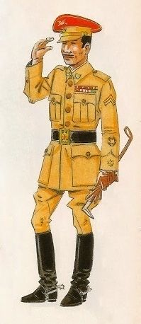 Los Regulares. Uniformes de 1943 Comandante de diario para paseo