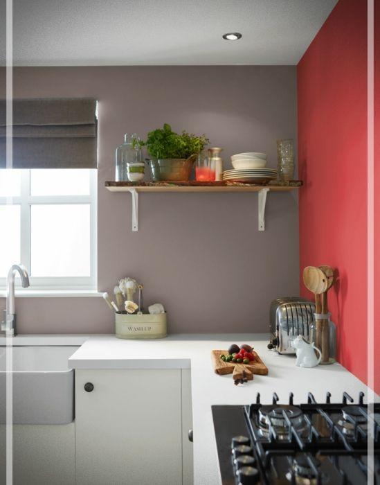 Colores Para Cocinas Cual Elegir Para Pintar Una Cocina Moderna Red Kitchen Walls Kitchen Wall Colors Paint For Kitchen Walls