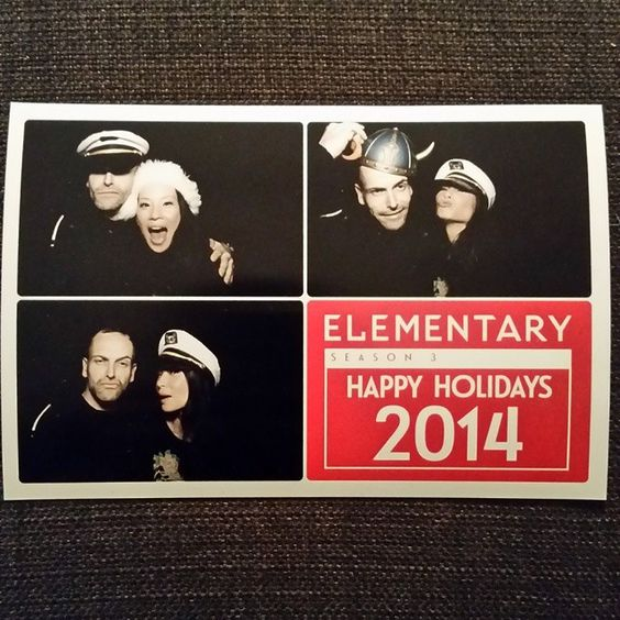 Happy holidays from all of us knuckleheads. #sherlock #watson #elementary #photobooth #party #glam