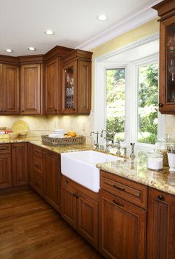 Kitchen Remodeling - This is pretty! I'd make a couple changes of course - cabinets not all the way up, and add some color, but what I can see is a good layout.
