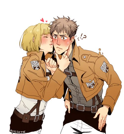 Jean x Armin | Shingeki no Kyojin || http://alyssaties.tumblr.com/post/69070976579/aaa-happy-birthday-to-dee-cherrywolf-this-was [please do not remove this caption with the source]