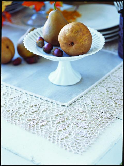 Crochet Falling Leaves Table Runner Crochet Today Free Pattern