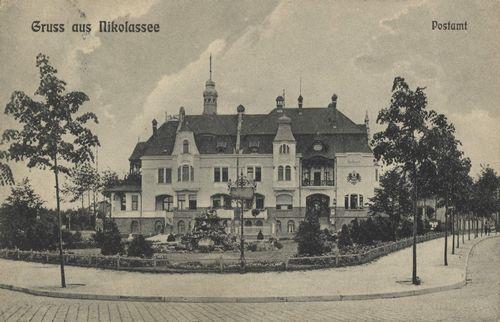 Berlin, Zehlendorf, Berlin: Nikolassee, Postamt ca 1909