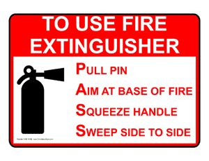 Fire Safety / Equipment > Fire Extinguisher > Sign