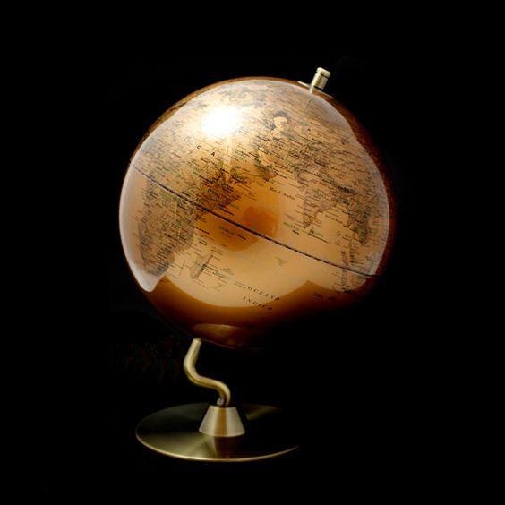 Bola del mundo dorada decoraci n alhambravip pinterest - Bola del mundo decoracion ...