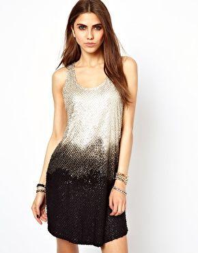 Image 1 ofReligion Ombre Sequin Mini Dress