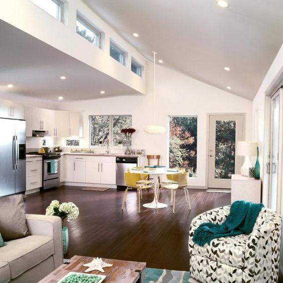 Kitchen hardwood floors high ceilings and hardwood floors for Clerestory windows cost