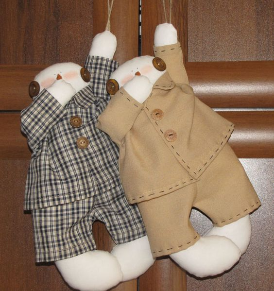 Tilda Doll Snowman in pajamas Interior  Christmas by LightDolls, $20.00