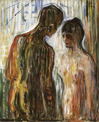"""Cupid & Psyche"" by Edvard Munch (he of ""The Scream"") 1907"