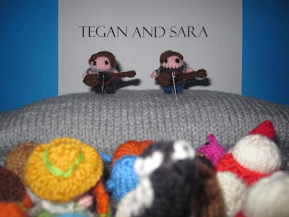 "New! ""Tegan and Sara play Mochimochi Land"" #KnitHacker #knit #knitting cc @Anna Totten Hrachovec @Tegan Mierle and Sara"