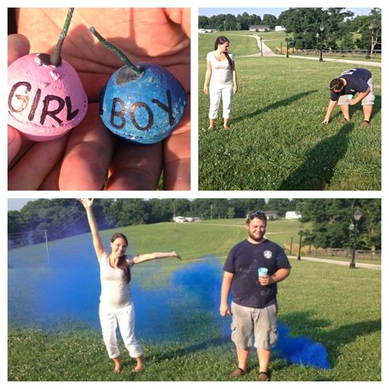 Our gender reveal!! It's a boy!!! Boy girl gender reveal party infant newborn nursery baby pink or blue Fourth of July fireworks smoke bombs maternity bump preggo belly babybump cake balloons
