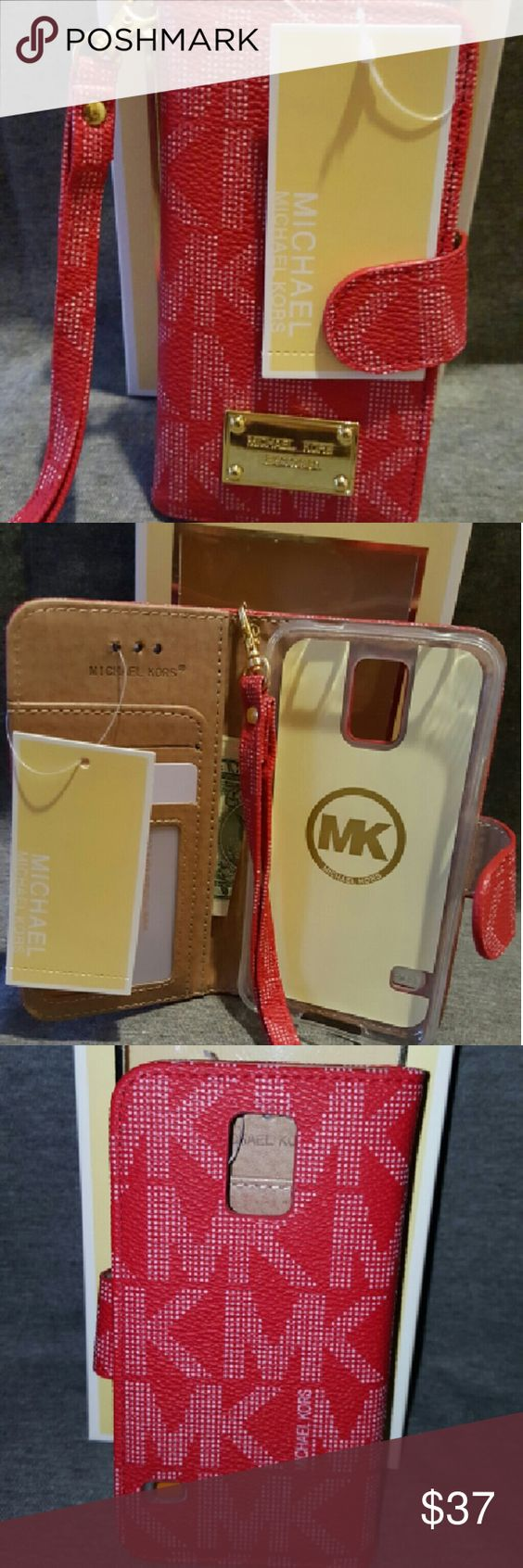 Case wallet galaxy s5 red color New mk case wallet galaxy s5 red Michael Kors Accessories Watches