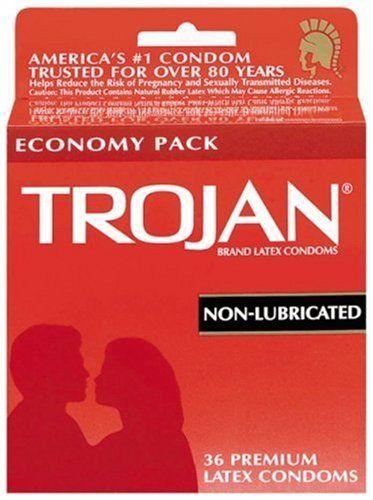 Condón Trojan de latex No lubricado. Todos los condones si se usan apropiadamente, ayudan a reducir el riesgo de embarazos y de adquirir o transmitir enfermedades sexuales como el vihsida. Para los que prefieren un condón sin lubricante esta es una muy buena opción.