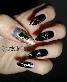 """Improbable Nails: """"Ancient Goddess Tanit"""" nails"""