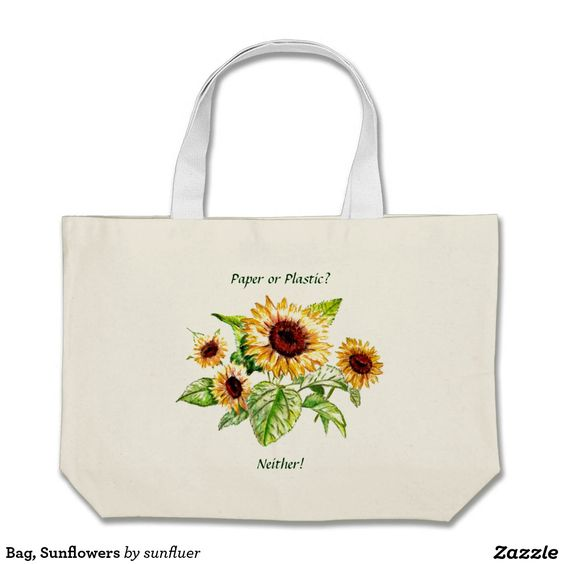 Bag, Sunflowers Large Tote Bag