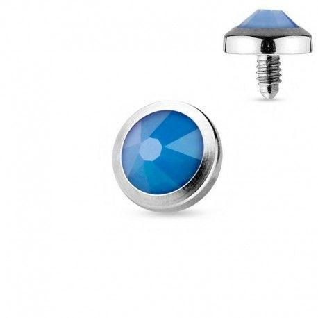 Microdermal Opalite bleue https://piercing-pure.fr/p/242-microdermal-opalite-bleue.html #opal #opale #piercing #dermal #bijoux #microdermal #bleu #dermalanchor