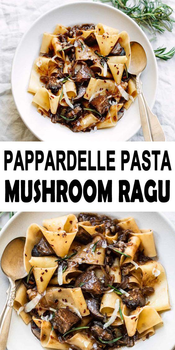 Pappardelle Pasta with Portobello Mushroom Ragu Recipe