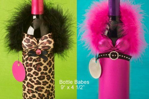 Wine Bottle Covers - Bottle BabesTM Slightly Risqué - Wine Tote ...