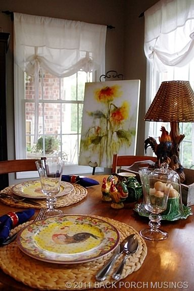 Roosters French Country And Sunflowers On Pinterest