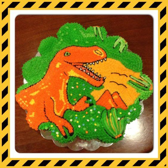 Dinosaur cake: