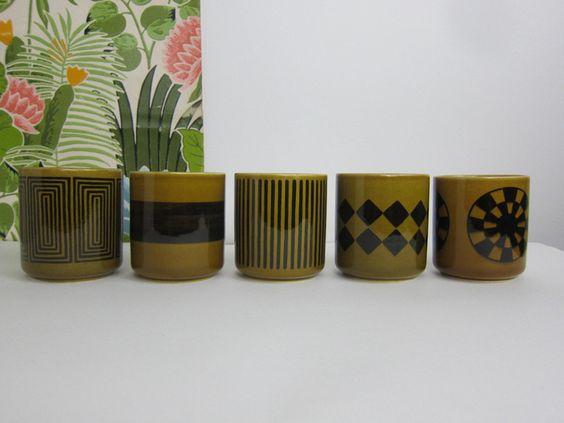 Becher & Tassen - Melitta, Braunekaffeetassen, Teetassen, - ein Designerstück von dieNestbauer bei DaWanda