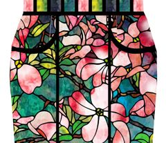 stained glass pencil skirt - fabric at spoonflower