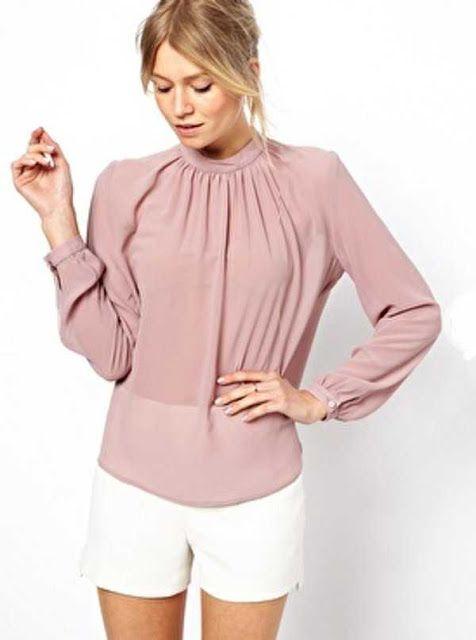 100% de alta calidad nuevo estilo de vida los recién llegados Look con blusa palo rosa Inspiración   Blusas rosa palo, Blusas ...