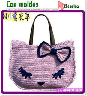 """Mis Pasatiempos  Amo el Crochet: BOLSA """"HELLO KITTY"""" PARA DAMAS"""