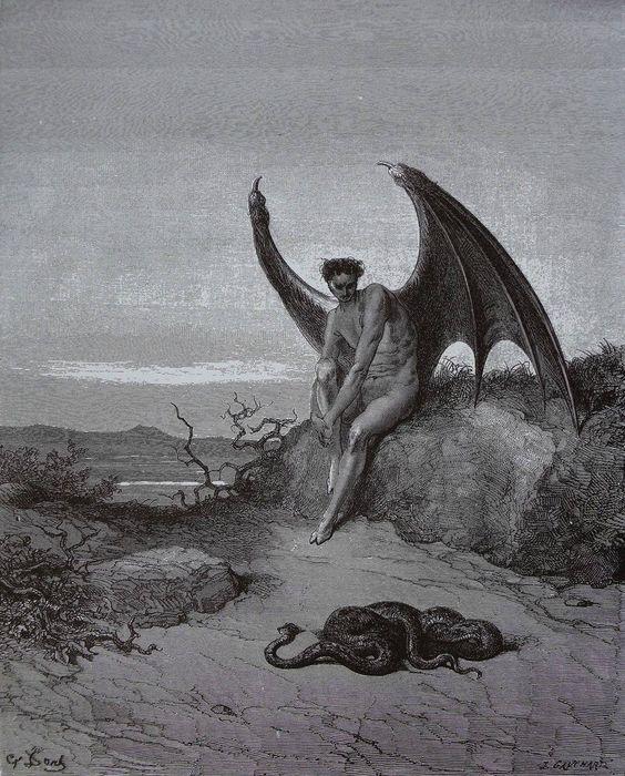 悪魔の絵画追放されたルシフェル