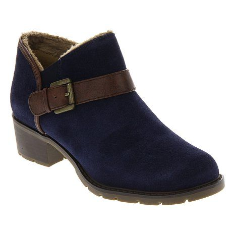 Sporto® Suede Shootie with Buckle Detail at HSN.com