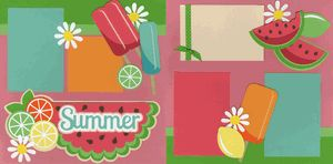 Like this for summer page or watermelon themed page.